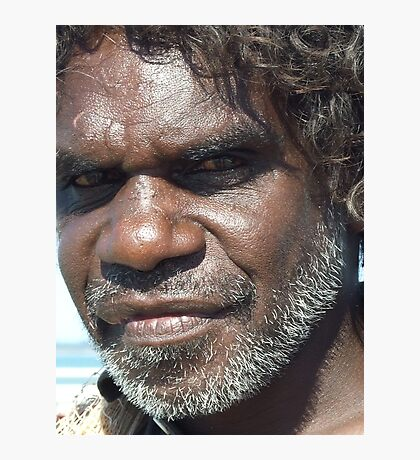 Look within the soul - Aboriginal local. Darwin, Northern Territory Photographic Print