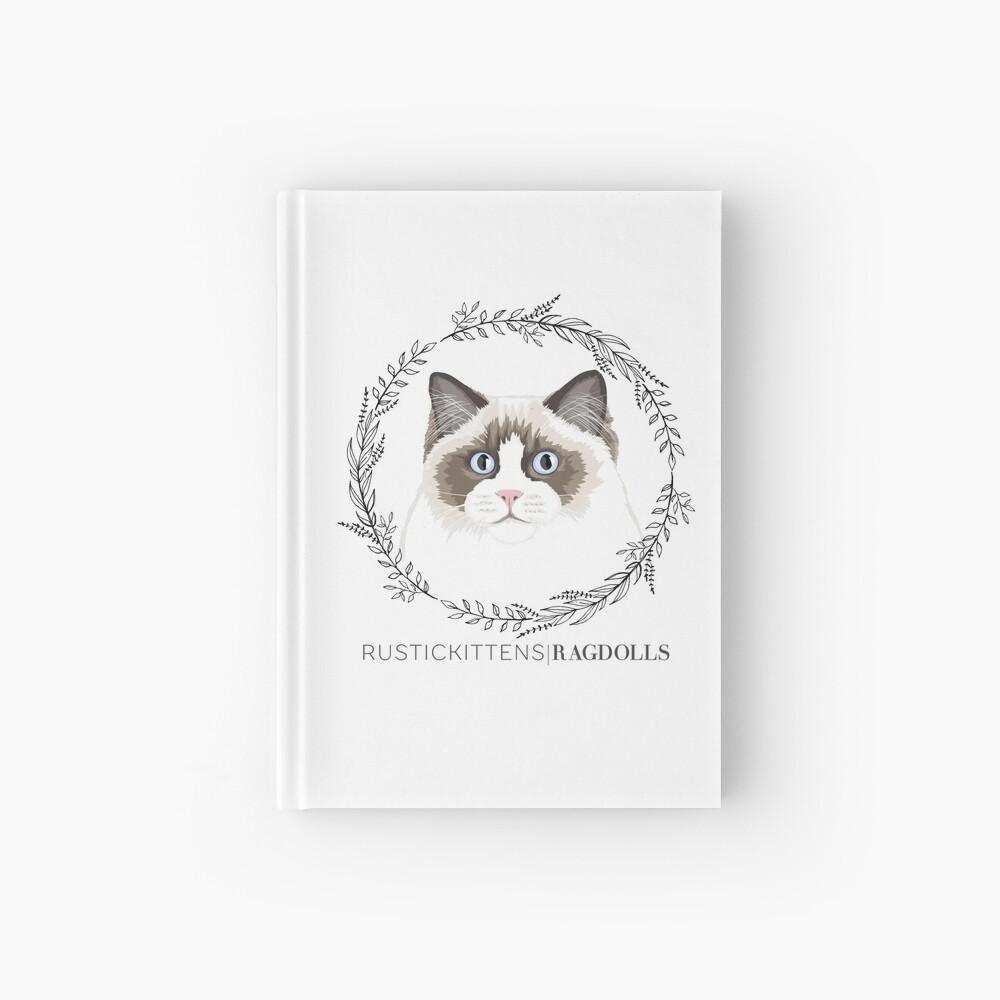 Seal Bicolor Ragdoll Wreath Hardcover Journal