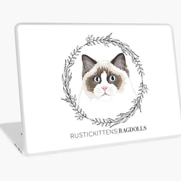 Seal Bicolor Ragdoll Wreath Laptop Skin
