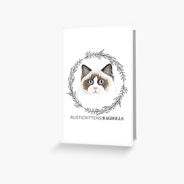 Seal Bicolor Ragdoll Wreath Greeting Card