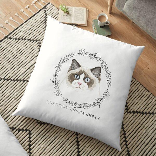 Seal Bicolor Ragdoll Wreath Floor Pillow
