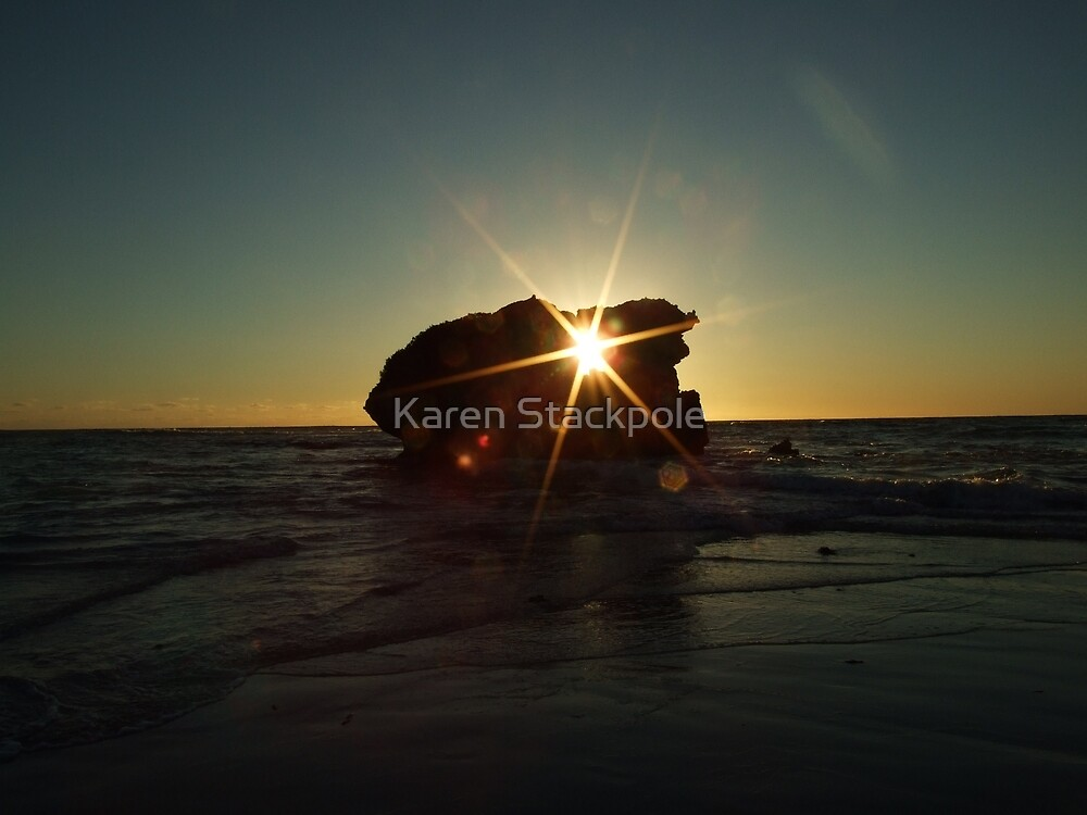 Rock Hole at Sunset Time- Two Rocks, Western Australia by Karen Stackpole