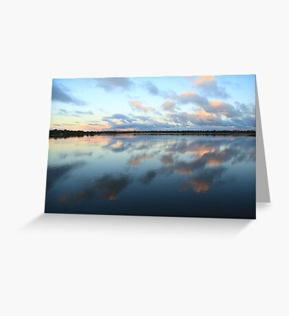 Bibra Lake setting sun - Perth, Western Australia Greeting Card