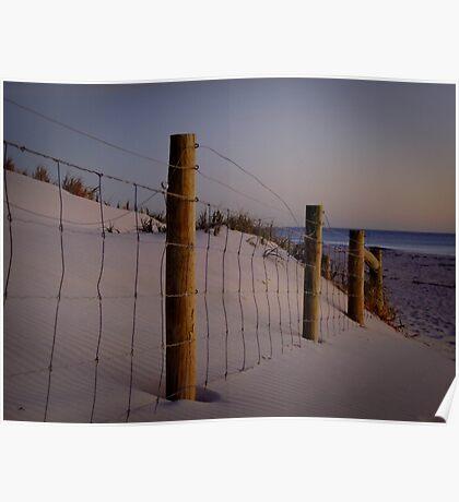 The old fenceline - Ocean Reef, Perth, Western Australia Poster
