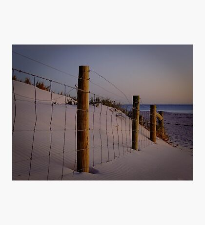 The old fenceline - Ocean Reef, Perth, Western Australia Photographic Print