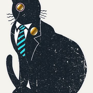 Vintage Misterious Cat by Illustratorial