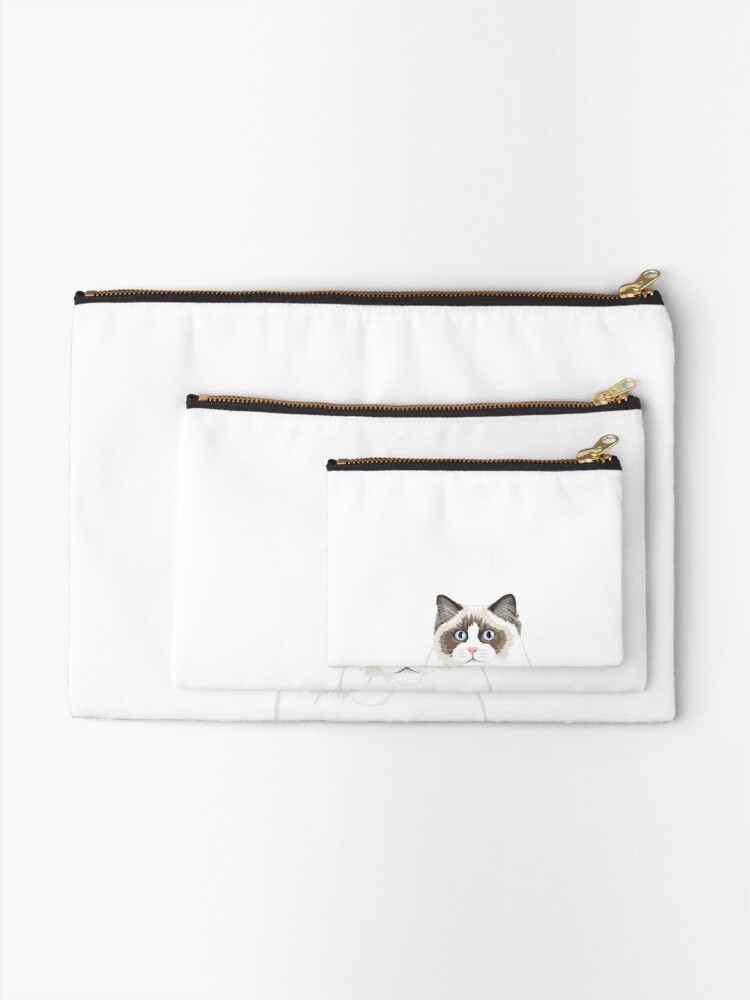 Alternate view of Seal Bicolor Ragdoll Zipper Pouch