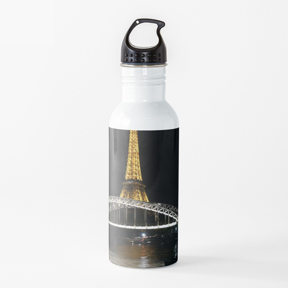 Eiffel Tower At Night 7 Water Bottle