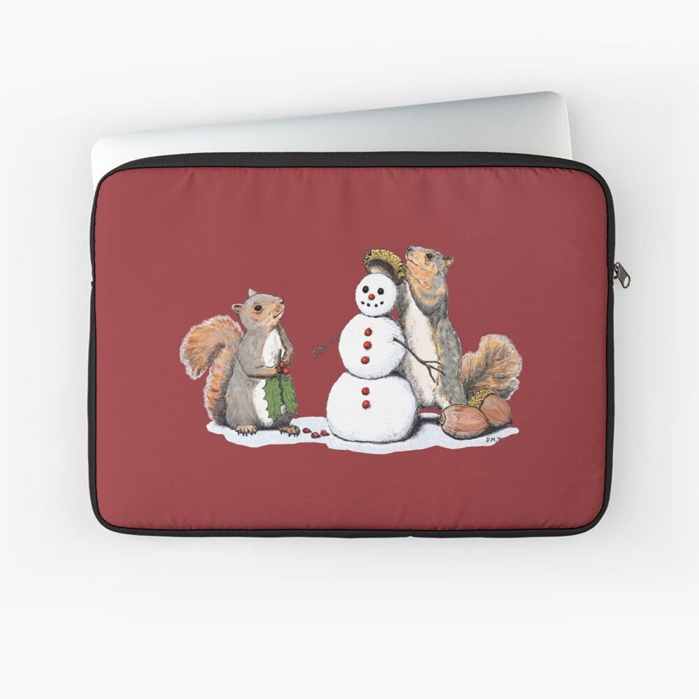Holiday Trimmings - Festive Red Laptop Sleeve