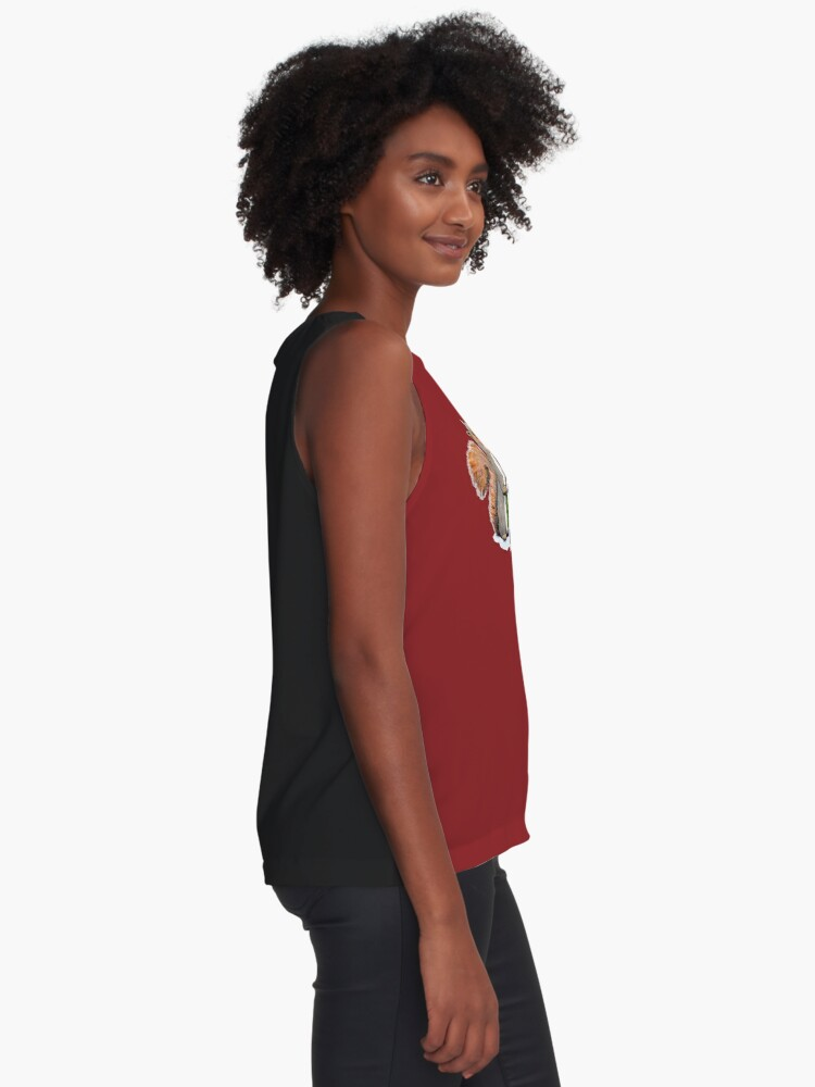 Alternate view of Holiday Trimmings - Festive Red Sleeveless Top