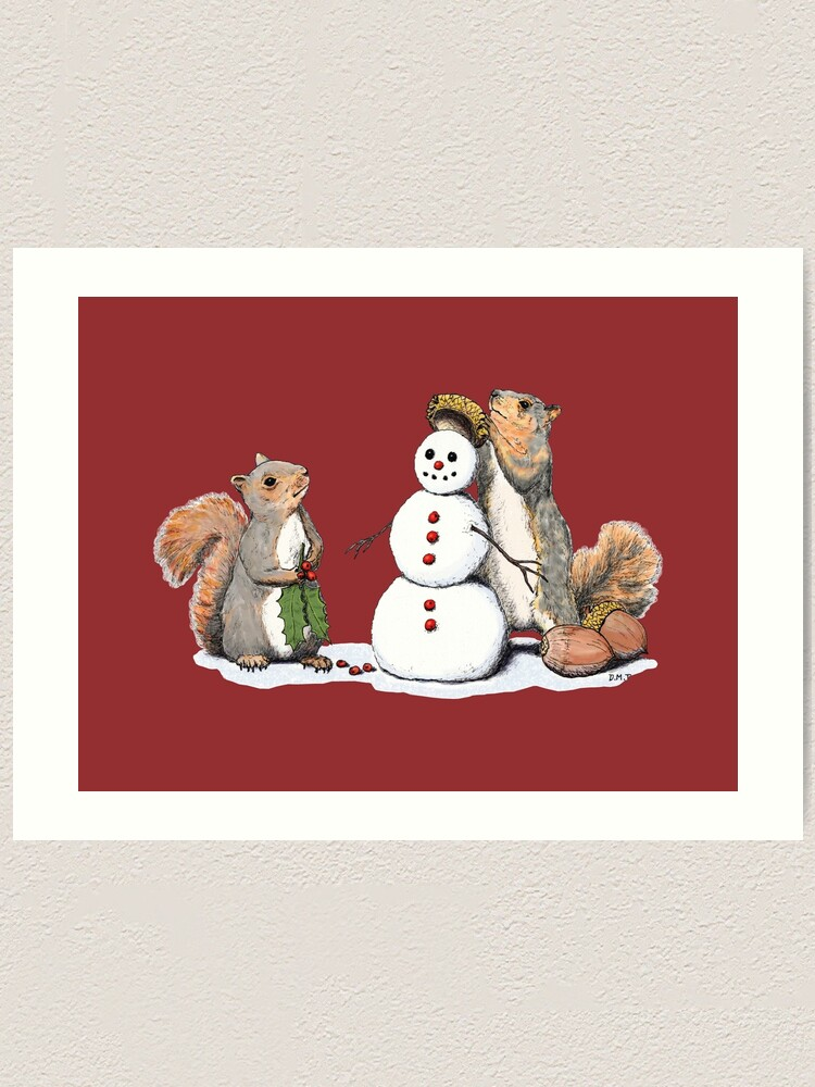 Alternate view of Holiday Trimmings - Festive Red Art Print