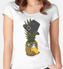 Pineapple Pilgrim Fitted Scoop T-Shirt