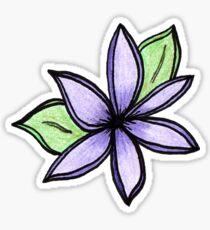 Purple Lotus Flower Sticker