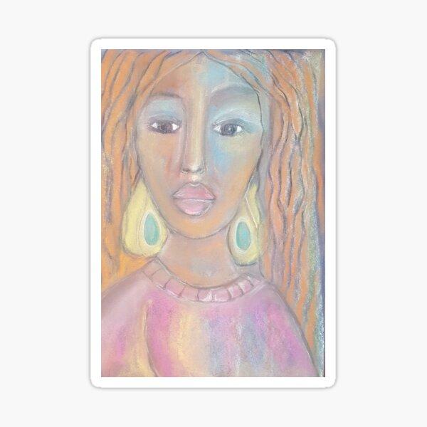 Pastel Portrtrait S19 Sticker