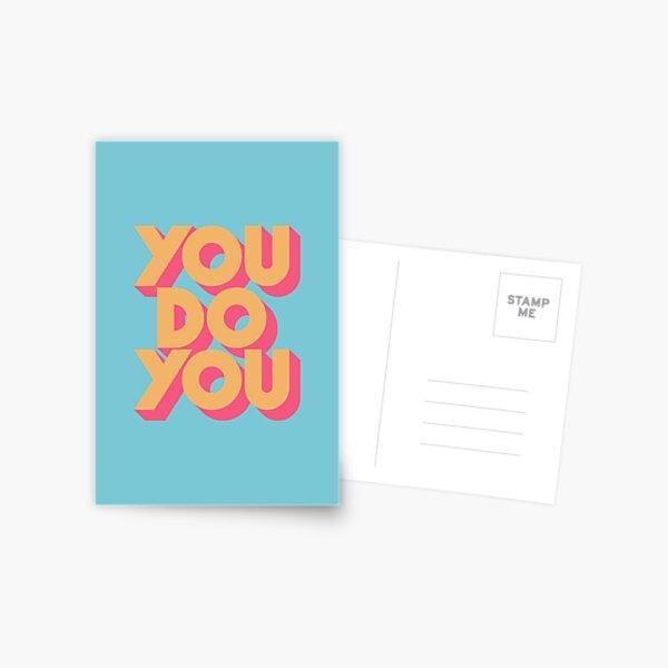 You Do You - Retro Blue Postcard