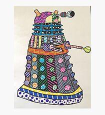 Dalek zentangle Photographic Print