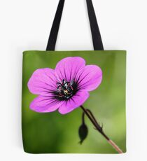 Purple Rosette Tote Bag