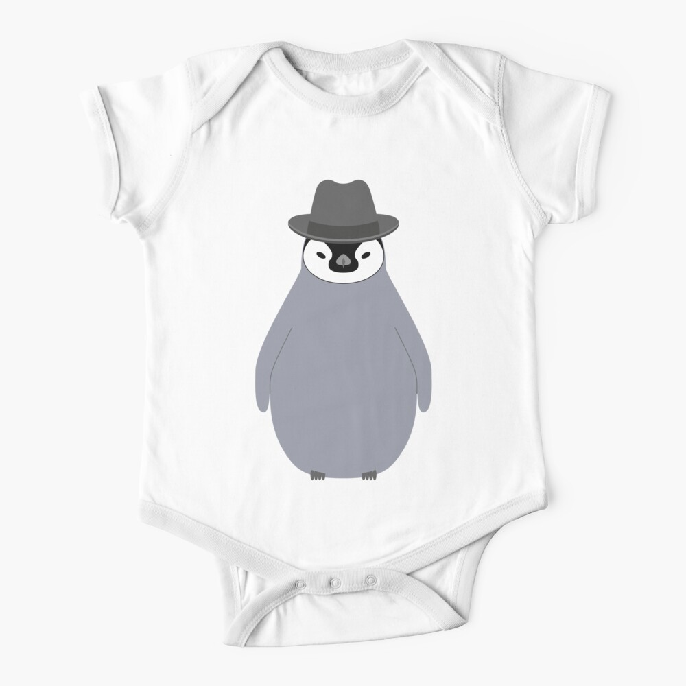 NDVH Baby Penguin Wearing a Homburg Baby One-Piece