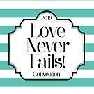 Love Never Fails - Mint Stripes by denisethorn