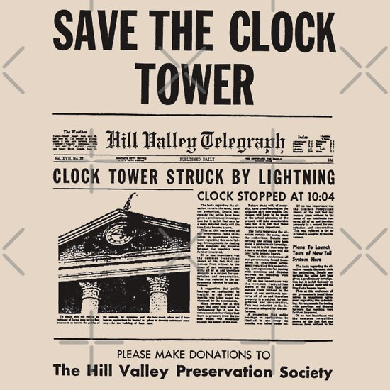 TShirtGifter presents: Back to the future - Save the clock tower !