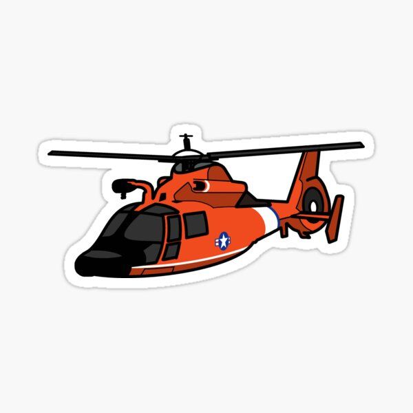 USCG HH65 Helicopter Sticker