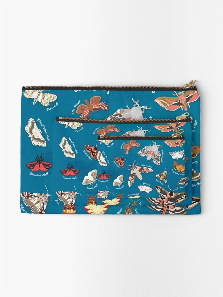 Alternate view of Moths of the United Kingdom Zipper Pouch