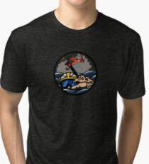 US Coast Guard Rescue Swimmer Storm - HH65 Tri-blend T-Shirt