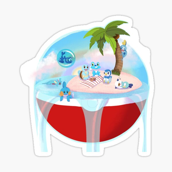 Water Type Welcome Party Sticker