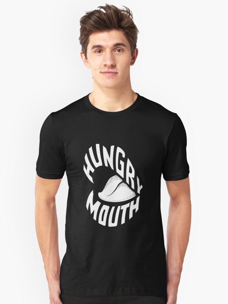 Hungry Mouth (white) Unisex T-Shirt Front