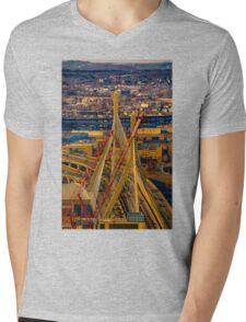 Leonard P. Zakim Bunker Hill Memorial Bridge Mens V-Neck T-Shirt
