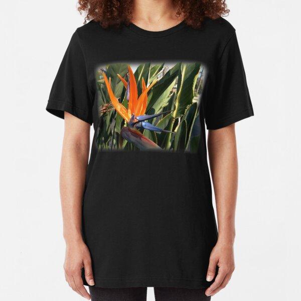 Bird of Paradise (Strelitzia) from A Gardener's Notebook Slim Fit T-Shirt