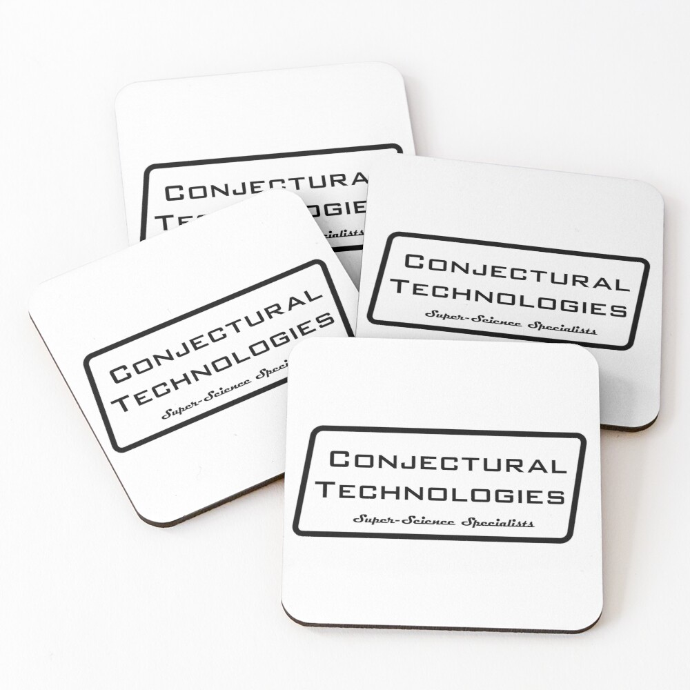 Conjectural Technologies (black) Coasters (Set of 4)
