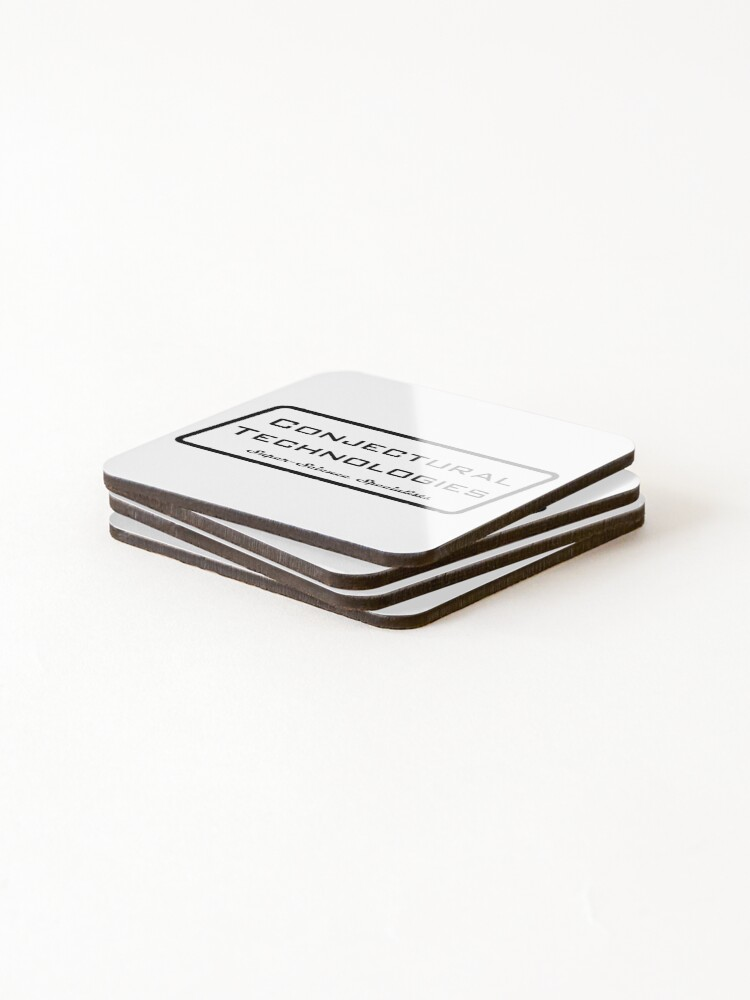 Alternate view of Conjectural Technologies (black) Coasters (Set of 4)