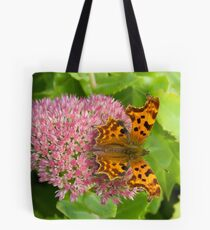 Comma butterfly, Polygonia c-album Tote Bag