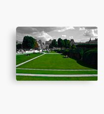 Lawns at the Louvre Canvas Print