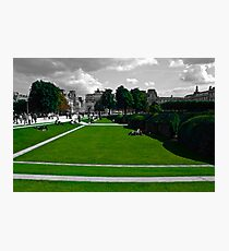 Lawns at the Louvre Photographic Print