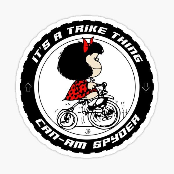 Mafalda sur le tricycle - Can-Am Spyder Sticker