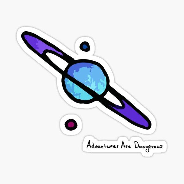 Purple Saturn Sticker