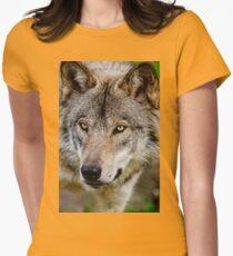 Timberwolf Portrait  Womens Fitted T-Shirt