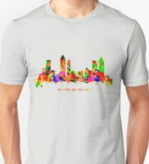Watercolour art print of the skyline of Atlanta Georgia USA T-Shirt