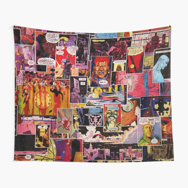 Watchmen Panel Collage Tapestry