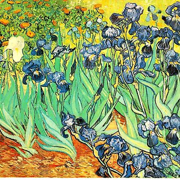 Van Gogh's Irises Bright and Beautiful by triinamariia