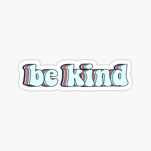 retro be kind Sticker
