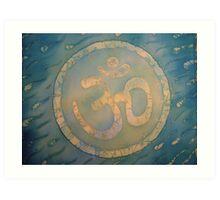 Celtic Om on Silk Art Print