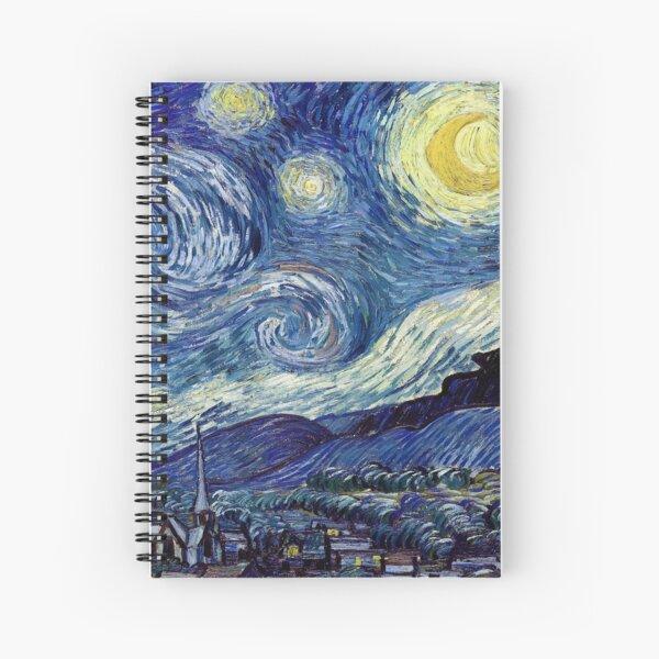 Vincent Van Gogh The Starry Night | High Resolution Spiral Notebook