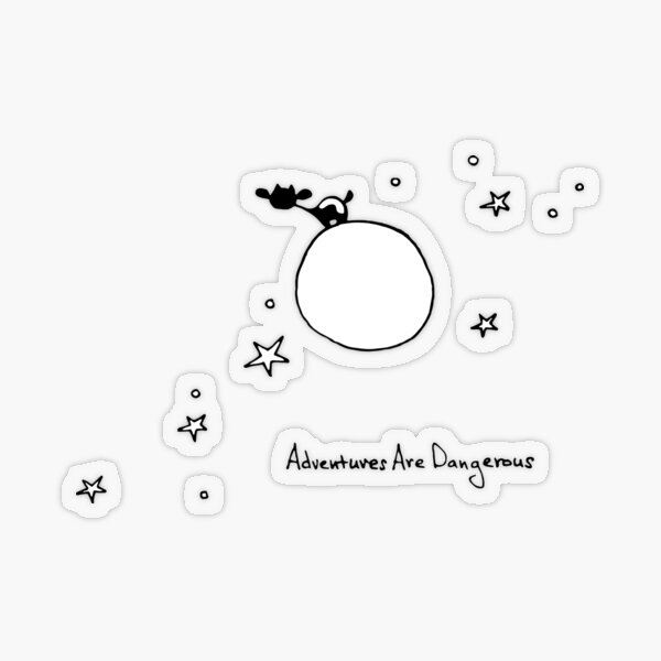 Cow on Planet with Stars Transparent Sticker
