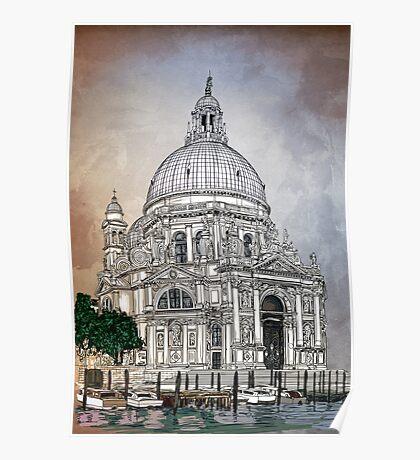 Santa Maria della Salute,Venice Poster