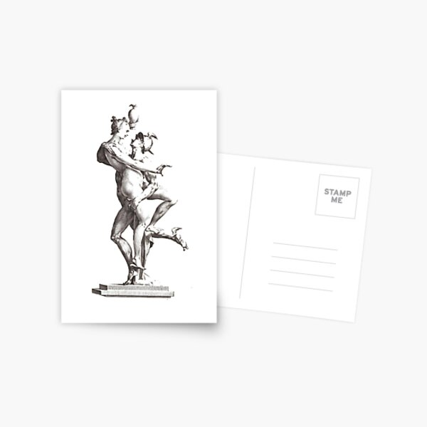 Mercury Abducting Psyche: Mercury Seen in Profile Postcard