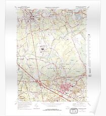Massachusetts  USGS Historical Topo Map MA Bridgewater 350879 1977 25000 Poster