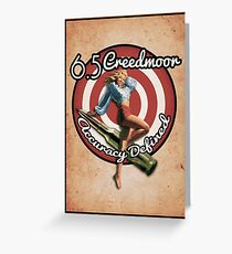The Creedmoor Girl! Greeting Card